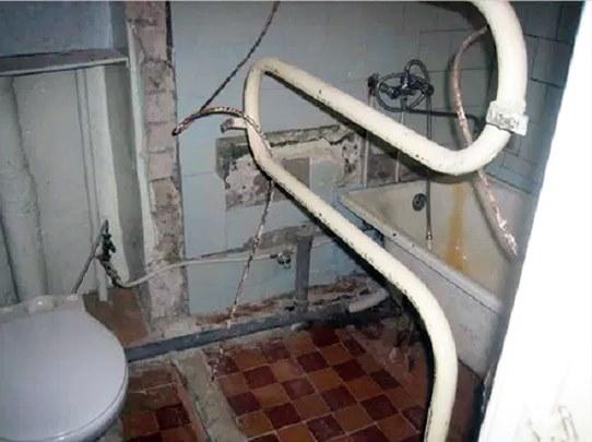 Снять старый полотенцесушитель