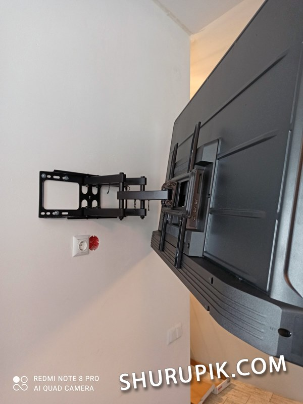 Установка телевизора на стену гипсокартон